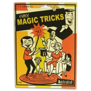 Easy Magic Tricks Book Over 50 Tricks SS Adams Illustrated Wizard Xray Vanishing