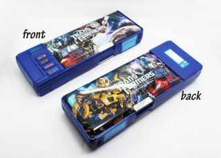 New School Supplies Transformers Pencil Box Multifunction Pencil Boxes Q159