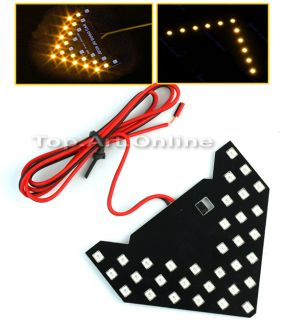 Car Vehicle 33 LED Arrow Panel Indicator Light Lamp Bulb Mirror Turn Signal New