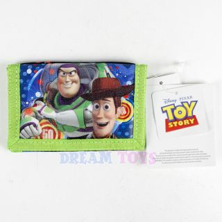 Disney Toy Story Trifold Wallet Buzz Lightyear Woody Space Velcro Boys Kids