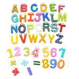 Kid Magnet Color Wood Alphabet 26 Letters 15 Numbers Child Baby Educational Toy