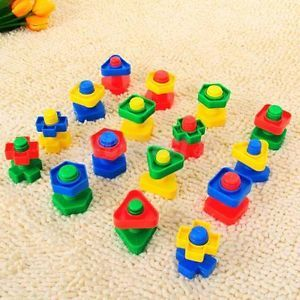 30 Plastic Building Blocks Toy Kid Color Math Education