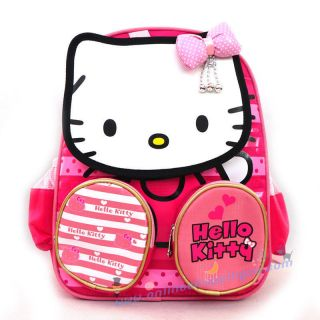 Cute Pink Hello Kitty Plush Preschool School Backpack Shoulder Boys Kids Toy Bag