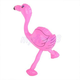 Pink Inflatable Flamingo Pool Beach Party Favour Kid Animal Blow Up Toy