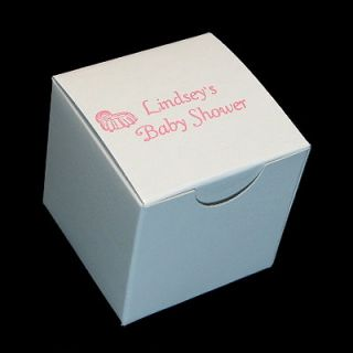 Cupcake Cookie Candy Favor Gift Boxes 4x4 25pc Hot Pink