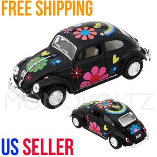 Classic VW Volkswagen Beetle 1 32 Die Cast Pull Back Car Toy for Kids Gift Black