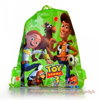 Hot 4pcs Toy Story Kids Drawstring Backpack School Bags Mixed 4 Models Kids Gift