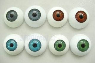 24pcs Plastic Fake Eyes Eyeballs Mask Doll Bear Toy Make