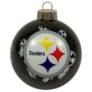 "Pittsburgh Steelers NFL 3"" Glass Ball Christmas Ornament by Topperscot"