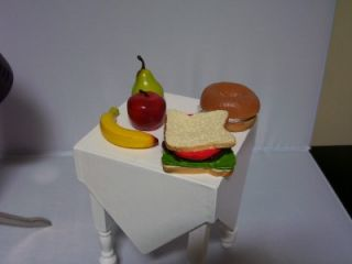 "American Style Fake Food Lot Fits 18"" Girl Doll Lot Sandwich Ice Cream Bread New"
