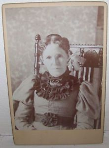 19c Antique Victorian Lady Rocking Chair Cabinet Photo