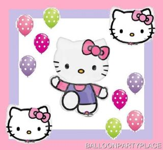 Hello Kitty Balloons Set Polka Dots Latex Birthday Party Supplies Decorations