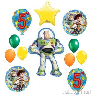 5th Birthday Buzz Lightyear Balloons Party Supplies Disney Toy Story Fifth Woody