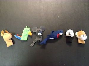 Animal Shape Hand Puppet Finger Puppet Kids Children Learning Toy Lot of 6