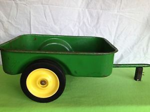 Used But Nice 1980 John Deere Pedal Tractor Trailer for The Kids or to Restore