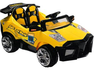 New Kids Battery Powered Childrens Yellow Electric Ride on ATV Super Car Toy