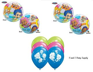 8PC Bubble Guppies Happy Birthday Party Balloons Decorations Supplies Sea Ocean