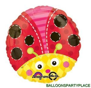 Balloon Birthday Baby Shower Ladybug Garden Black Red Polka Dot Party Supplies