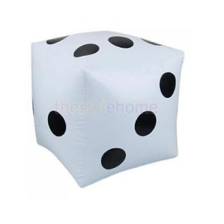 2X Big White Inflatable Dice Pool Toy Party Favors Quality PVC Backyard Game New