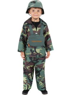 Kids Army Boy Fancy Dress Toy Soldier Uniform Costume