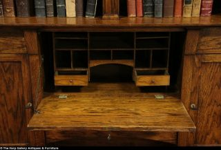 Arts Crafts Mission Antique Secretary Desk Bookcase Oak 1905