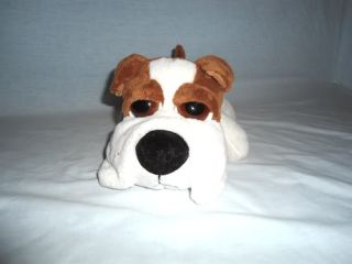 "Russ Berrie Lil Peepers Med 9"" Brimble Boxer Dog Stuffed Plush Big Eyes"