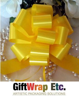"10 Daffodil Yellow 5"" Pull Bows Gift Ribbon Christmas Basket Party Decorations"