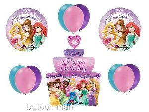 Disney Princess Cake Birthday Party Supplies Decorations Lot of 12 Balloons