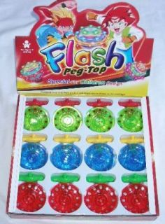 12 Pcs Flash Spinning Top with Multi Color LED Light Up Party Supply Wholesale