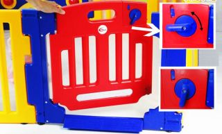 New Baby Kids Interactive Playpen Play Pen with Gate