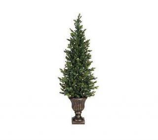 Bethlehem Lights Solutions 5' Battery Operated Christmas Tree Urn w Timer Multi