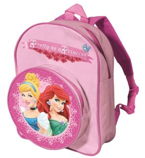 Disney Theme Character Childrens Junior Bag Back Pack School Bag with Zip Pocket