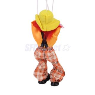 1pcs Wooden Clown Marionette Circus Toy Puppet Toy for Kids Baby Pretend School
