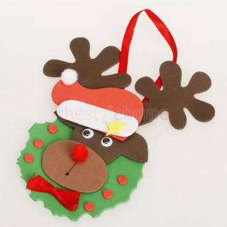 Foam Craft Kit Creative Kids Christmas Reindeer Decoration Colorful New