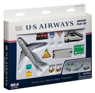 U s Airways Airport Play Set Airplane Signs Delivery Truck