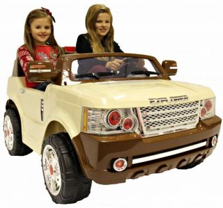 Rocket Explorer 24V Kids Ride on Battery Electric Jeep Car Range Rover 2 Seater