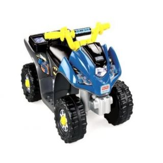 Fisher Price Power Wheels Batman Lil Quad Kids Outdoor Play Game Ride on Gift