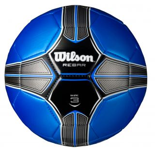 New Wilson Rebar 32 Panel Kids Soccer Ball w Synthetic Leather Cover Size 3