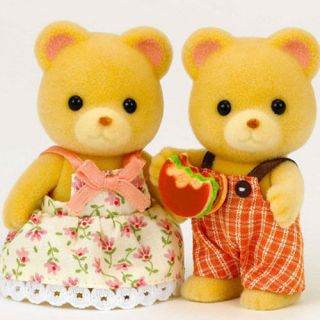 Sylvanian Families JP FS 04 Bear Family Father Mother Sister Brother Set New