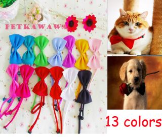 20pcs 13colors Dog Puppy Cat Pet Toy Kid Children Cute Lot Bow Dog Tie Bowtie