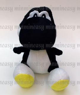 "DS Wii Nintendo Super Mario Bros Black Yoshi 12"" Soft Toy Plush Doll"