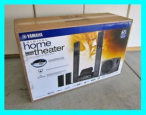 Yamaha YHT 897 5 1 Channel Home Theater in A Box Speaker System YHT 897BL ★new★