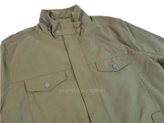 New Kenneth Cole New York Men's Military Bomber Jacket Coat 4 Pocket Olive Sz M