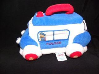 Baby Gund Police Car Playset Plush Soft Toy Cute