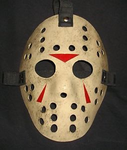 Custom Made Hockey Mask Scary Zombie Halloween Prop Retro Horror Art Jason Lu