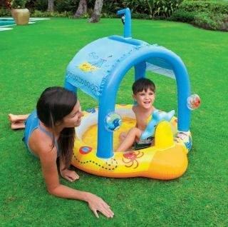 Intex Lil' Captain Pirate SHIP Kids Inflatable Baby Wading Pool 57426EP