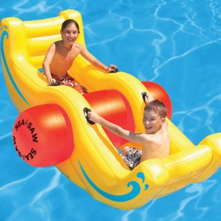 Kids Inflatable Swimming Pool Float Blow Up Fun Seesaw Rocking Play Rocker Toy