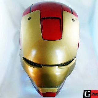 Ships Free Iron Man Open Face Lighted Eyes Helmet Painted Scale 1 1 New Hero