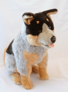 "Cattle Dog Blue Heeler Large Soft Plush Toy 18"" New"
