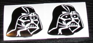 "Star Wars Empire Darth Vader Helmet Silhouette Vinyl Decal 2 3"" Gloss Black"